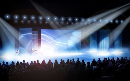 Visualisierung eines Veranstaltungskonzepts (Zibert+Friends GmbH). Eine Reihe von Illustrationen zeigt die Höhepunkte des Show-Konzepts und vermittelt so einen Eindruck der Dramaturgie.