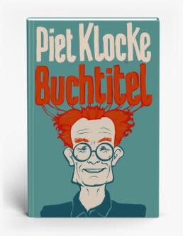 Entwurfsskizze für einen Buchtitel von Piet Klocke